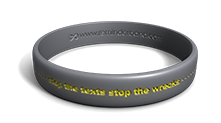 Stop the Texts Stop the Wrecks Wristband