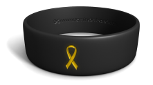 Black Band Yellow Ribbon Wristband