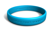 Blue Support Our Troops Wristband