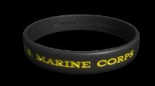 Black US Marine Corps Wristband